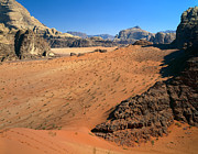 Large Format Prints - Mountainous Sand Dunes of Wadi Rum Print by Efim Chernov