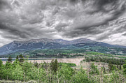 Grey Clouds Prints - Mt. Elbert Towers In The Distance Print by Noah Katz
