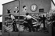 Mural Photos - mural to belfast dock workers in pilot street sailortown Belfast Northern Ireland UK by Joe Fox