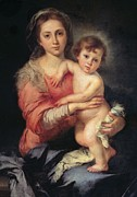 Nude Child Art Prints - Murillo Bartolom Esteban, Madonna Print by Everett