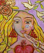 Sacred Feminine Paintings - Muse by Havi Mandell