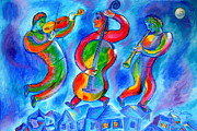 Judaica Prints - Music from the Heaven Print by Leon Zernitsky
