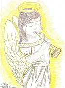 Angel Drawings - My Guardian Angel by Raquel