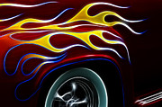 Hot Rod Flames Posters - My Latest Flame Poster by Bob Christopher