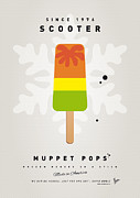 Scooter Posters - My MUPPET ICE POP - Scooter Poster by Chungkong Art