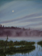 Fog Mist Pastels Prints - Mystic Morning Print by Kathy Dolan