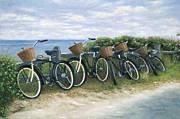Nantucket Paintings - Nantucket Taxi Stand by OMalley Keyes