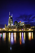Cumberland River Framed Prints - Nashville Skyline Framed Print by Lucas Foley