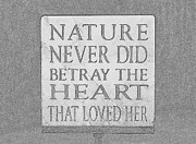 Marie Neder - Nature Love sign