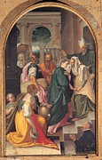Cousins Framed Prints - Nebbia Cesare, The Visitation, 16th Framed Print by Everett