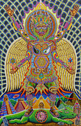 Trippy Painting Metal Prints - Neo Human Evolution Metal Print by Chris Dyer