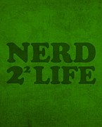 Featured Art - Nerd 4 Life Math Formula Humor Poster by Design Turnpike