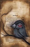 Pop Surrealism Paintings - Nevermore #1 by  Abril Andrade Griffith
