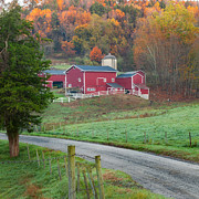 New England Farm Photos - New England Farm Square by Bill  Wakeley
