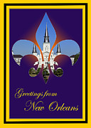 Fleur De Lis Art - New Orleans Greetings by Cecil Fuselier