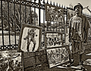 Steve Harrington - New Orleans Street Artist sepia