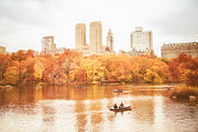 Central Park Skyline Prints - New York City - Autumn - Central Park Print by Vivienne Gucwa