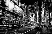 Live Art Framed Prints - New York City Black and White 5 Framed Print by Yury Malkov