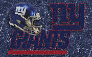 Mvp Digital Art Posters - New York Giants Mosaic Poster by Jack Zulli