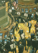 Stock Market Prints - New York Stock Exchange Print by Gloria  Nilsson