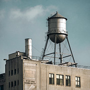 New York City Rooftop Photos - New York water towers 10 by Gary Heller