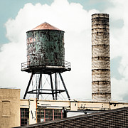 Icons Prints Framed Prints - New York water towers 12 - Urban Photography Framed Print by Gary Heller
