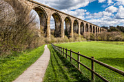 Country Digital Art Metal Prints - Newbridge Rail Viaduct Metal Print by Adrian Evans