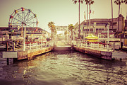 Treatment Metal Prints - Newport Beach Balboa Island Ferry Dock Photo Metal Print by Paul Velgos