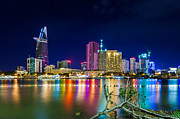 Fototrav Print - Night city skylike saigon vietnam