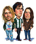 Dave Grohl Paintings - Nirvana by Art