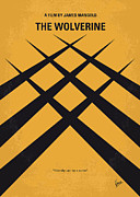 Japan Digital Art Prints - No222 My Wolverine minimal movie poster Print by Chungkong Art