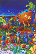 Noah Painting Framed Prints - Noahs Ark Framed Print by Marilyn Ponty Salzano