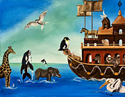 Noah Paintings - Noahs Ark by Susan Culver