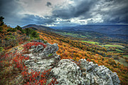 North Fork Photo Framed Prints - North Fork Mountain Overlook Framed Print by Jaki Miller