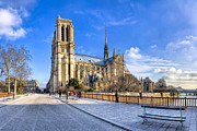 Our Heritage Posters - Notre Dame de Paris in Winter Sun Poster by Mark E Tisdale