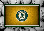Baseball Posters - OAKLAND As Poster by Joe Hamilton