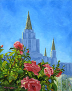 Lds Painting Originals - Oakland California LDS Temple by Shalece Elynne