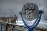 California Tourist Spots Prints - Oceanside Pier California Binocular Vision Print by Bob Christopher