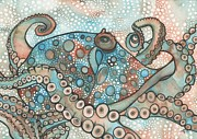 Earth Tones Metal Prints - Octopus Metal Print by Tamara Phillips