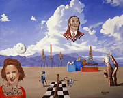 Salvador Dali  Paintings - Ode to Salvador Dali by Michael Bridges