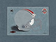 Sec Framed Prints - Ohio State Buckeyes Helmet Framed Print by Herb Strobino