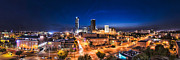Bricktown Photo Framed Prints - OKC Night Panorama Framed Print by David Waldo