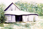 Alabama Drawings Framed Prints - Old Alabama Barn Framed Print by Ceilon Aspensen