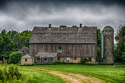 Gass Framed Prints - Old Barn On A Stormy Day Framed Print by Paul Freidlund