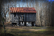 Berks Framed Prints - Old Barn with Tin Roof Framed Print by Bill Cannon
