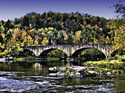 Hyper Framed Prints - Old Bridge Framed Print by Ken Frischkorn