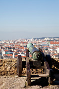 Rooftops Photos - Old Bronze cannon by Jose Elias - Sofia Pereira