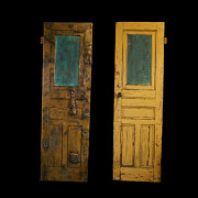 Old Door Sculpture Framed Prints - Old door Framed Print by Christopher Schranck