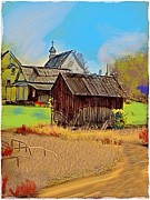 The Church Mixed Media - Old Farm Building by Craig Nelson
