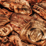 Baseball Glove Photos - Old Leather by Bill  Wakeley